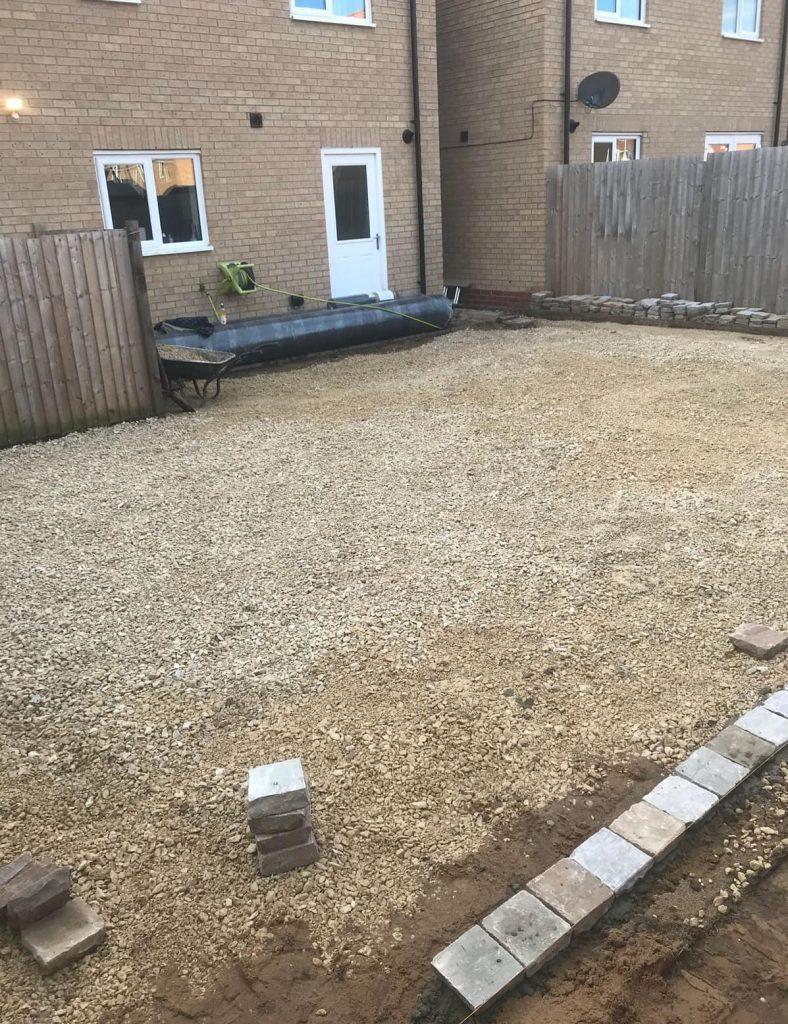 Full landscape service including paving